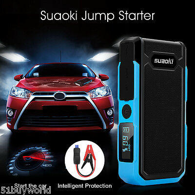 20000mAh 800A Voiture Batterie Secours Urgence LED Chargeur Jump Starter Booster