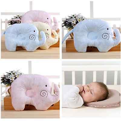 Newborn Baby Infant Elephant Foam Pillow Anti Prevent Flat Head Support Neck NEW