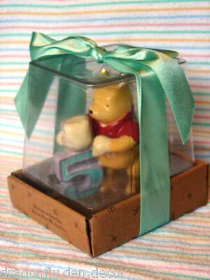 """Winnie The Pooh 5th Birthday Cake Topper Keepsake """"...Now We Are Five"""" (Retired)"""