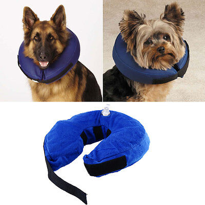 Inflatable Collar Dog E-Collar Pet Medical Healing Protection Head Cone S