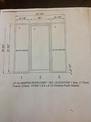 Entry Door with sidelines. Aluminum with Glass. American made new in box