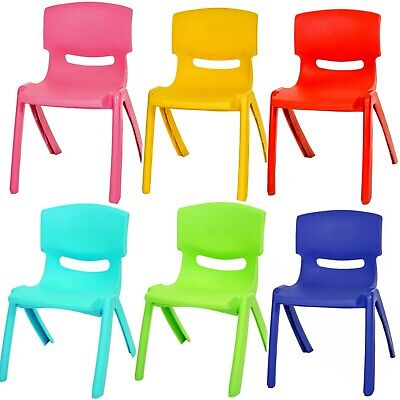 Premium  Plastic Childrens Chairs Kids Tea Party Garden Nursery School Club