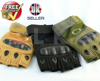Tactical Half Finger Military Outdoor Sports Hunting Riding Paint-Balling Gloves
