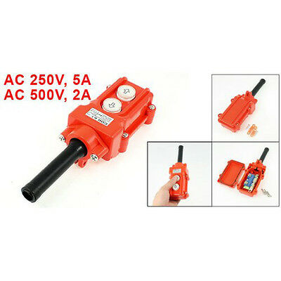 New Orange Water Proof Hoist Crane Pendant Up Down Station Pushbutton Switch T1