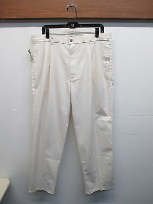 NWD VTG '70s Levi's Officer Corps Pleated Front Zipper Off-White Pant Mens 38x30