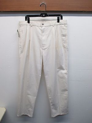 "NWD VTG Levi's Men's Office Corps Pleated Zipper Front Off White Pants 38"" x 29"""