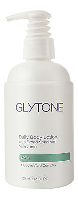 Glytone Daily Body Lotion Broad Spectrum SPF 15 12 fl oz 355 ml. Sealed Fresh