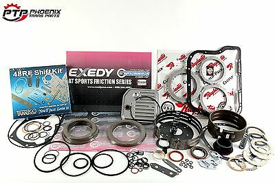 Dodge Ram 48RE Master Rebuild Kit Exedy Performance Clutches Transgo Shift Kit