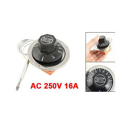 AC 250V 16A 30-110C Temperature Control Capillary Thermostat fr Electric Oven T1