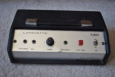 LaFayette Echo-Verb Spring Reverb Solid State Made In Japan Functions Perfectly!