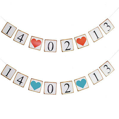 Personalised Date Bunting Banner Mr Mrs Hanging Decoration Photo Props Hen Party