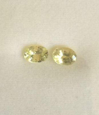 Outstanding Top Gem Quality Oval Chrysoberyl Pair 2-7.0x5.0mm  1.84tctw