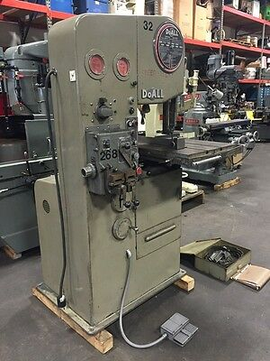 "#1612-3 DoALL 16"" Vertical Band Saw With Hydraulic Feed Table (New 1965)"