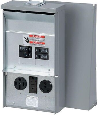 Power Outlet Panel Temporary Unmetered Outdoor Electrical Construction Site RV