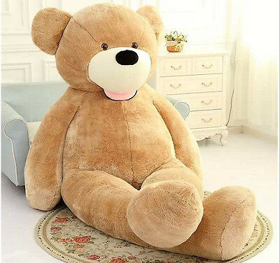 """79"""" Huge Super Teddy Bear(Only Cover) Plush Toy Shell (With Zipper)"""