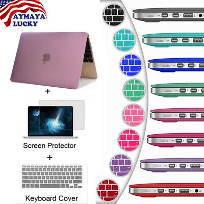 Matte Hard Case For Macbook Air Pro Retina 12 13  Laptop Bag Keyboard Cover &LCD