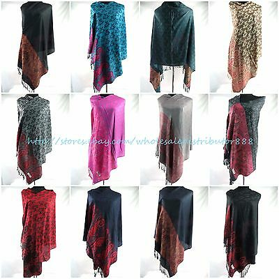 US SELLER-5pcs paisley vintage pashmina scarf Wholesale shawl neckwarmer