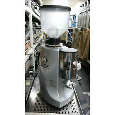 Second Hand Mazzer Robur Manual 2012 Silver Commercial Coffee Bean Grinder