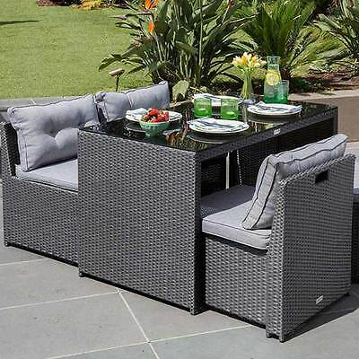 Excalibur Outdoor Living Maxim 5 Piece Dining Setting HX000223DGY