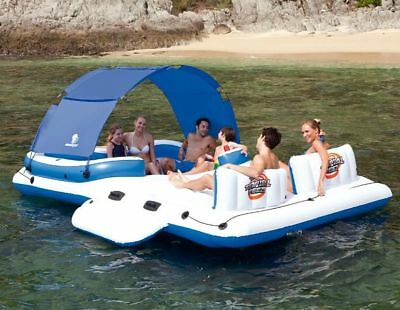 Bestway CoolerZ Tropical Breeze 6-Person Floating Island Lounger Raft Pool Toy