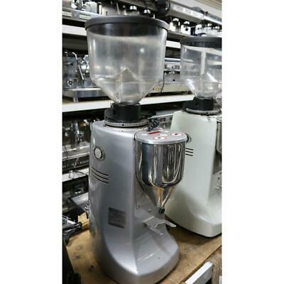 Second Hand Mazzer Robur Electronic 2012 Silver Commercial Coffee Bean Grinder