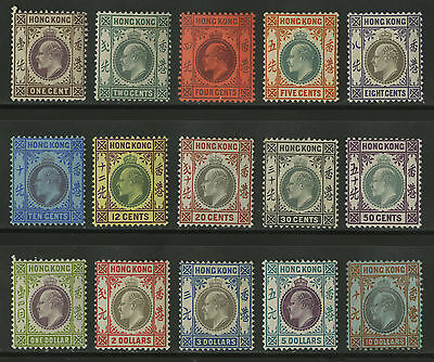 Hong Kong   1903   Scott # 71-85    Mint Lightly Hinged Set - 85 is USED