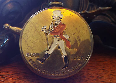 Antique John Barone & Sons Johnnie Walker Retractable Brass Tape Measure