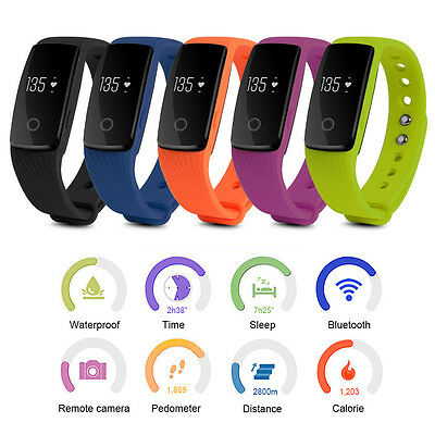 Waterproof Sports Smart Wristband Fitness Bracelet OLED Watch Heart Rate Monitor