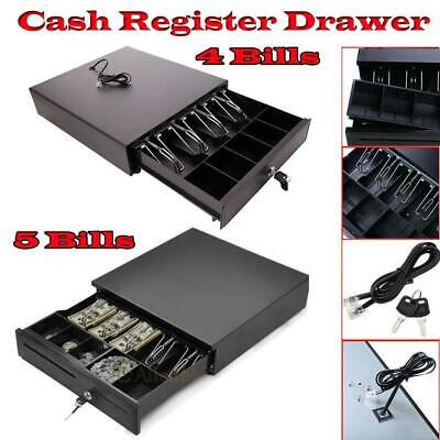 New POS Cash Drawer 4/5Bill 5Coin Tray Compatible with Star and Epson Printers