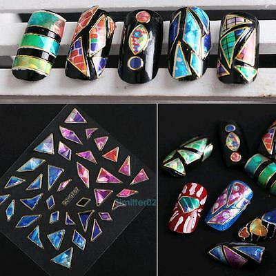 15 Sheets Nail Art Transfer Stickers 3D Design Manicure Tips Decal Decoration #S