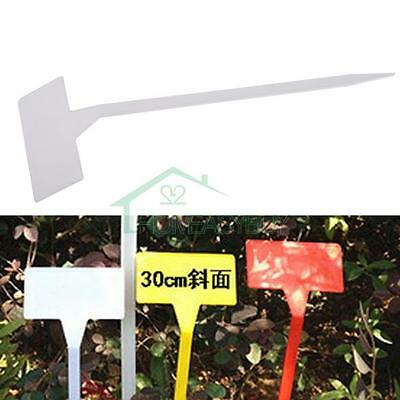 50 pcs Plastic Plant T-type Tags Markers Nursery Garden Labels Flower Thick Mark
