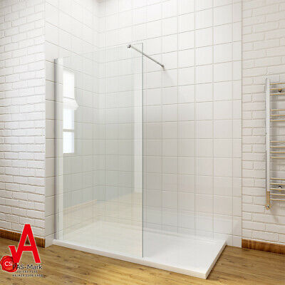 800/900/1000/1100/1200 Frameless Shower Screen Enclosure Fixed Panel Walk In