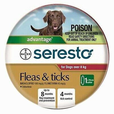 Seresto 8- Month Flea & Tick Collar for Dogs Over 8kg