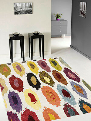 BEST-HOME COLOURFUL 15mm THICK LARGE MODERN FLOOR RUG RUGS  3 sizes GEM-500