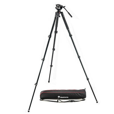 100% New Manfrotto MVK500AQ Fluid Video System MVT535AQ Tripod MVH500AH Head