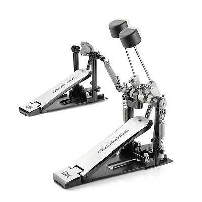 Professional Foot Double Kick Bass Drum Kit Drumkit Pedal with Dual Chain Drive