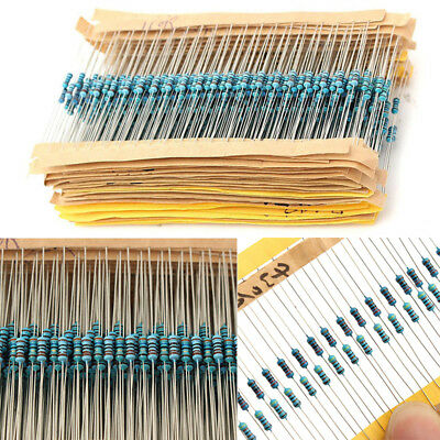3120PCS 156 Values 1ohm~10M ohm 1/4W 1% Metal Film Resistors Assortment Kit Set
