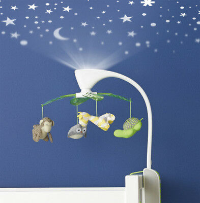 Skip Hop Moonlight & Melodies Zoo Mobile Star Projector Lullaby Sound Baby