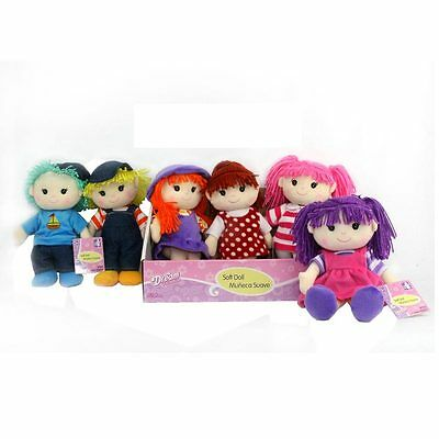 Dream Collection Assorted Rag Dolls Girls And Boys 28Cm / 11 Inch