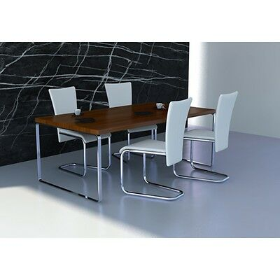 New 4 pcs Artificial Leather Chrome White Dining Chair 57 x 43 x 103 cm