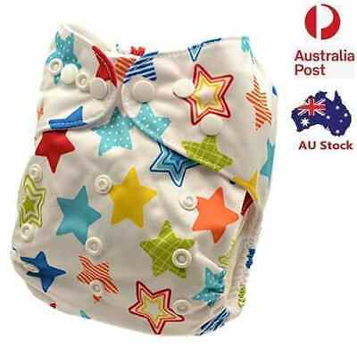 Adjustable Reusable Modern Cloth Nappies Baby Nappy Minky One Size Fit All (M72)