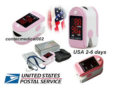 US FDA Finger Fingertip Pulse Oximeter Blood Oxygen LED SpO2 PR patient monitor