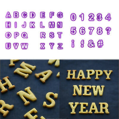40Pcs Alphabet Number Letter Fondant Cake Cookie Cutter Pan Mold Biscuit OK