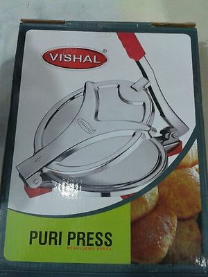"Stainless Steel Puri Press / Papad Maker / Roti press / Chapati press (6.5"" )"