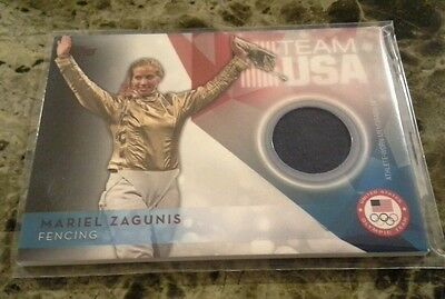 2016 Topps Olympics Relic Patch Mariel Zagunis USOTR-MZ Fencing