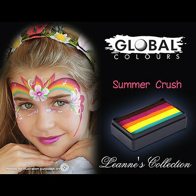 Global Colours 30g Summer Crush Fun Stroke Rainbow Professional Face Paint Party