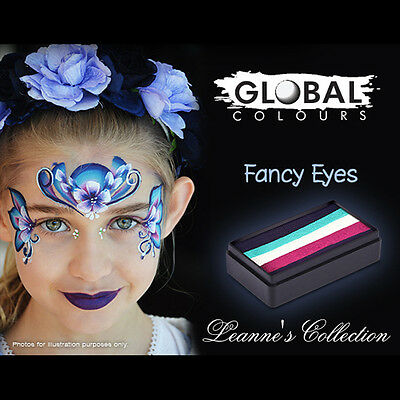 Global Colours 30g Fancy Eyes Fun Stroke Rainbow -Professional Face Paint Party