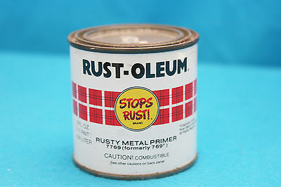Vintage 1979 Rust-Oleum Rusty Metal Primer Tin Can  #7769 - 1/2 Pint  (Z)