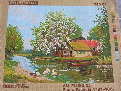 Canvas Tapestry Needlepoint Printed Canevas Gobelin Ropiprint Am Fluss