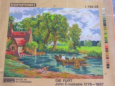 Canvas Tapestry Needlepoint Printed Canevas Gobelin Ropiprint Die Furt